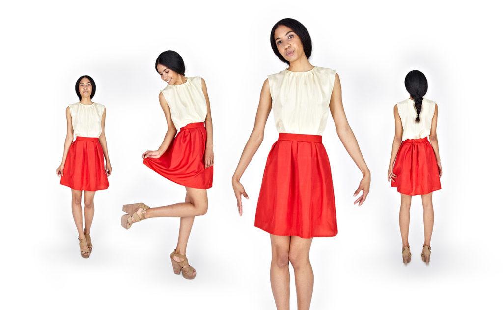 выбор красной юбки
