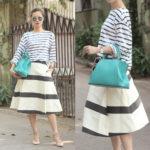 С чем носить полосатую юбку удобнее всего?